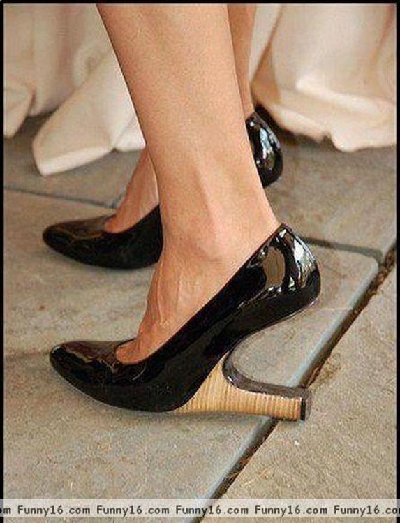 Damesko med omvendt hæl